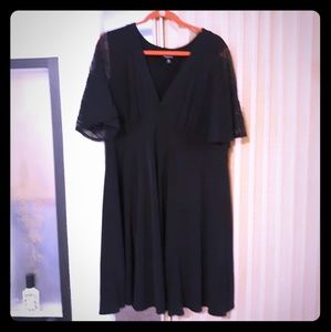 Torrid black dress with short lace sleeves